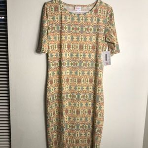 Lularoe Julia style paisley print dress MD